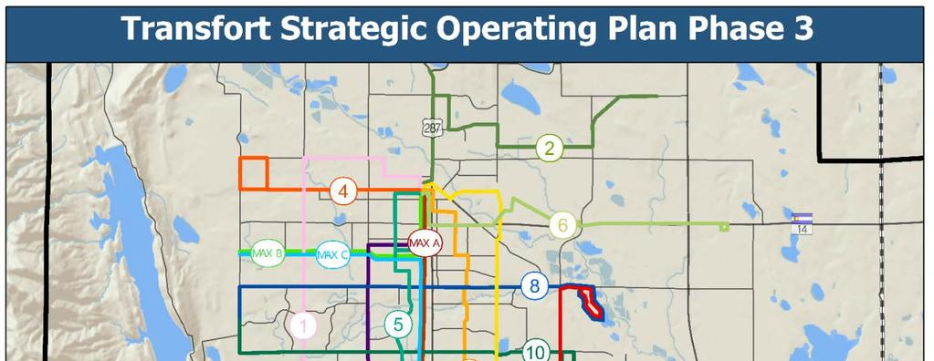 Transfort Strategic Operating Plan Phase 3 The Transit Strategic Operating Plan for the Transfort network was developed in collaboration with the City of Fort Collins Transfort, the City of Loveland