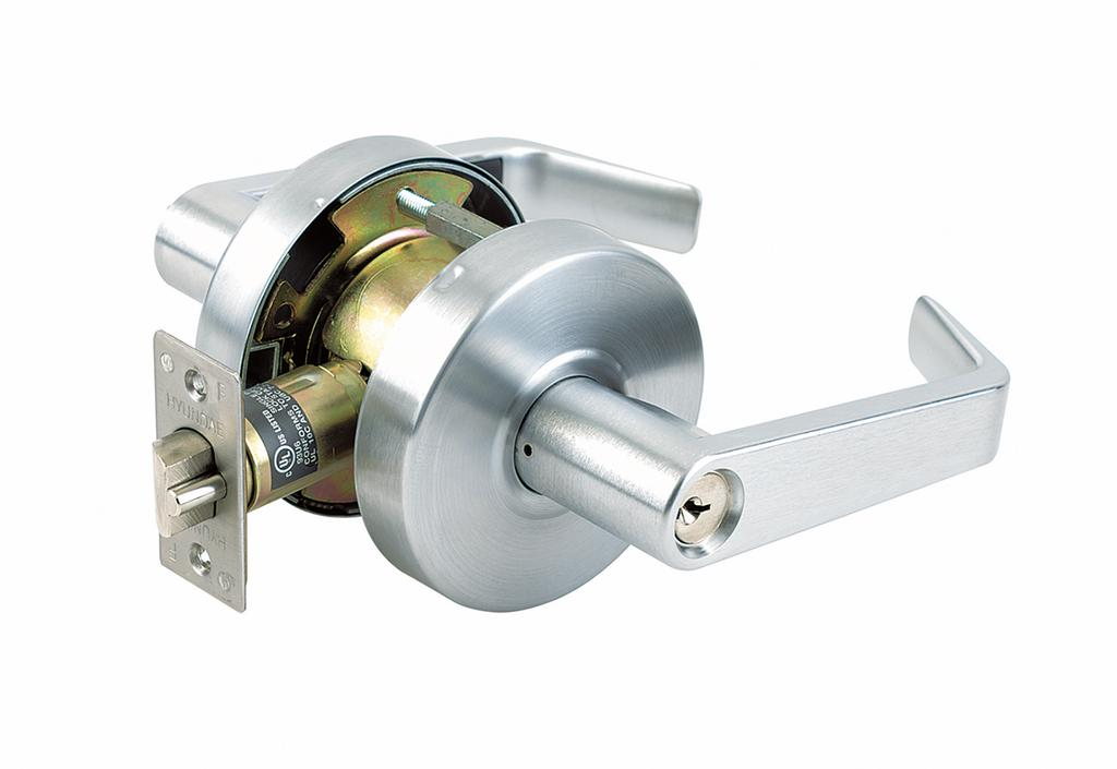 22 SERIES MEDIUM-DUTY CYLINDRICAL LEVER LOCK 22 Lever Lockset, Grade 2 Individual coil compression springs to provide great strength and durability 22 SERIES Lever Designs: ADA compliant 1-3/8""