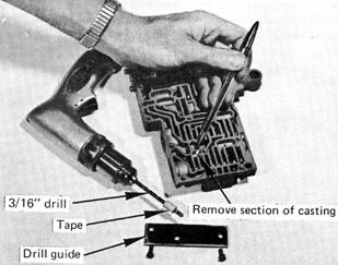 Page 8 of 11 and repair it now. Install proper retaining screws and tighten finger tight. STEP 20. Governor plug valves: (See Fig. 17.) Install 2-3 shift valve governor plug.