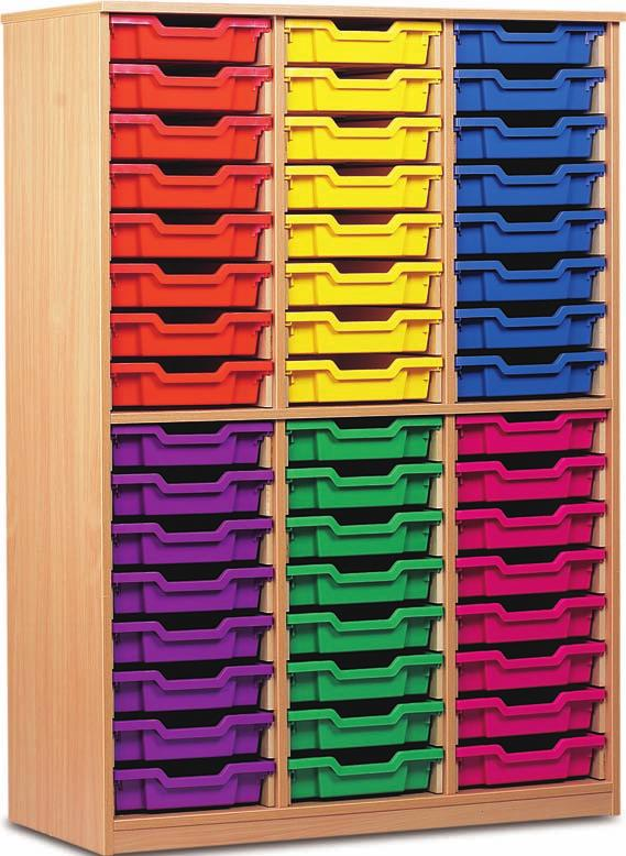 TC Tray Storage Cupboards A comprehensive & hardwearing range of storage units specifically developed to withstand the heavy use within the classroom environment All