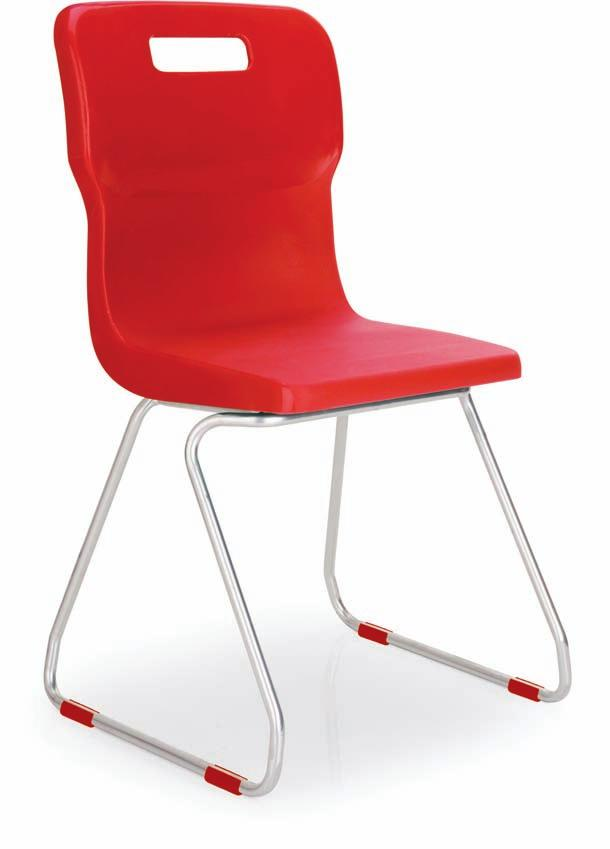 Titan 4 Leg & Skid Classroom Chairs Super strong classroom chairs conforming to EN1729 Parts 1&2 in the UK 4 Colour coded feet to match En1729 colour coded heights Titan 4 Leg Chairs The super strong