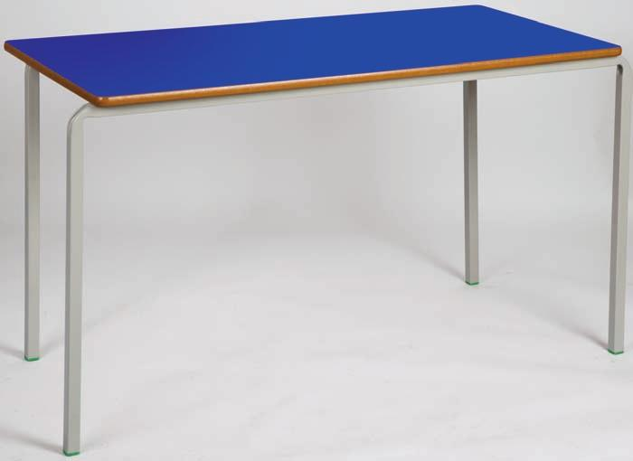 Classroom tables Choose from fully welded or crushbent frames in square, rectangular, trapezoidal & round Square classroom tables All tables feature a one piece powder coated 25mm square box section