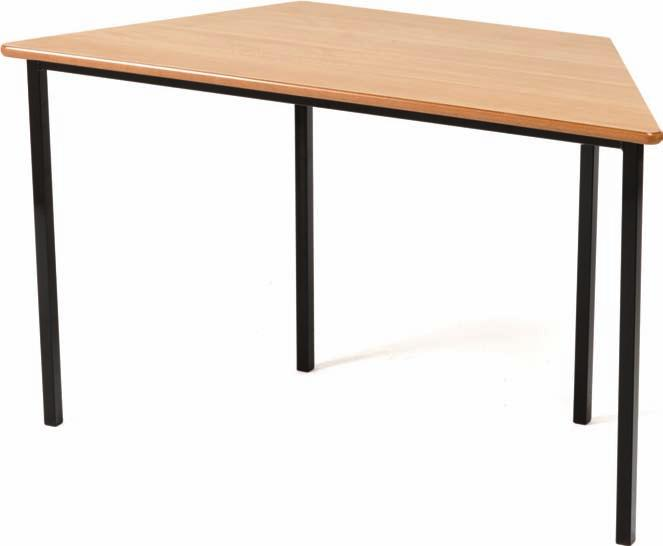 Trapezoidal classroom tables All tables feature a one piece powder coated 25mm square box section frame finished in black or light grey. Choose from 2 frame options crushbent or fully welded.
