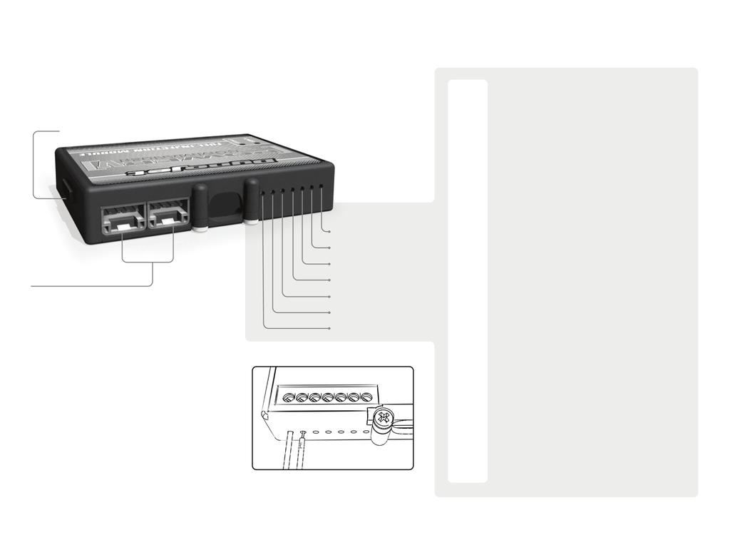 POWER COMMANDER V INPUT ACCESSORY GUIDE ACCESSORY INPUTS USB CONNECTION Map - The PCV has the ability to hold 2 different base maps.