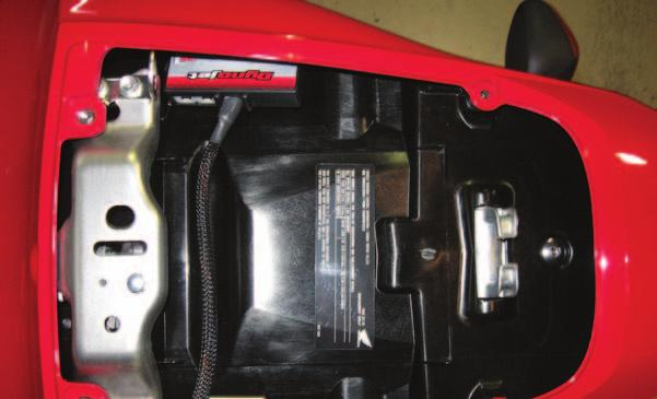 Note: This unit comes shipped with a stock map for the 09-11 models. If this does not fit your setup you can download more maps from the supplied CD or www.powercommander.com. Speed input - sensor is located on the top of the engine case near the back of the starter.