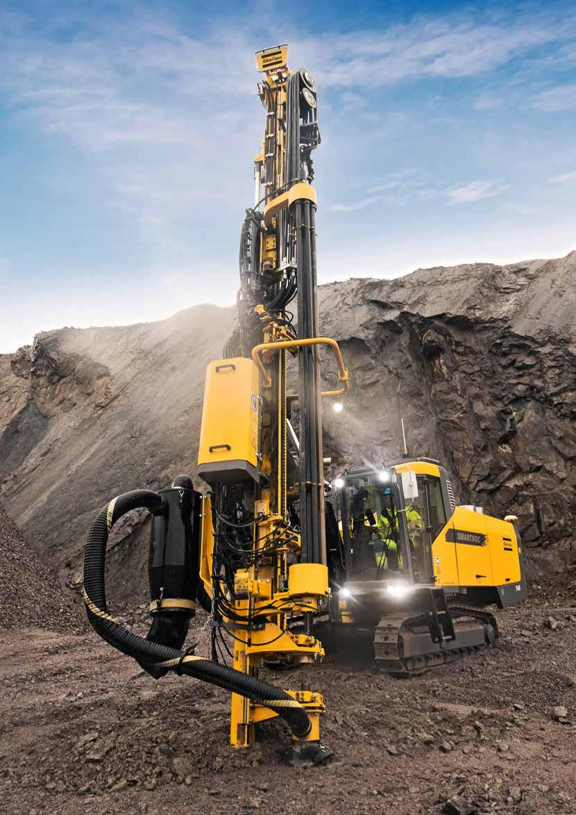 SMARTROC T45 Surface drill rig for quarry and construction.