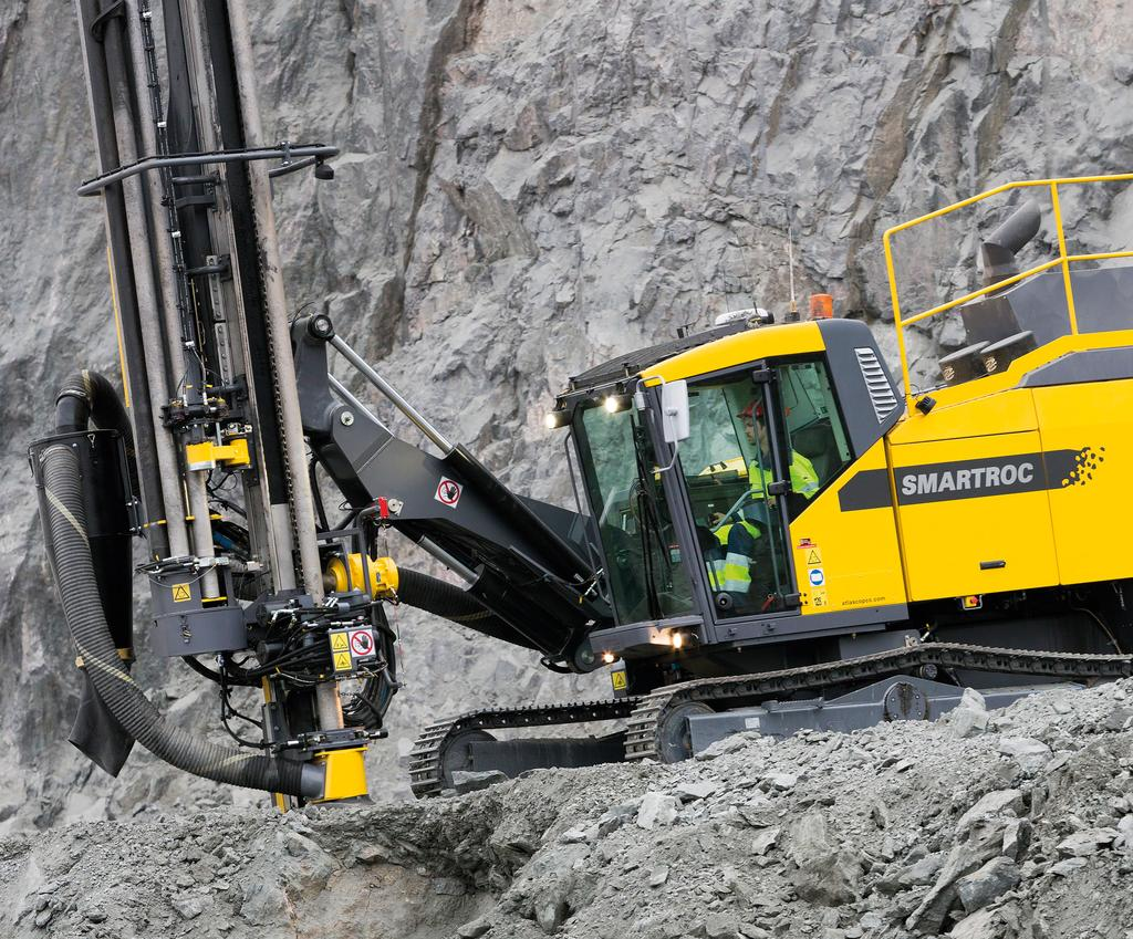 THE MINING MASTERMIND THE SMARTROC D65 DOWN-THE-HOLE DRILL RIG TURNS YOUR MINING VISION INTO REALITY. YOUR BUSINESS WILL PROFIT FROM THE ADDED INTELLIGENCE OF THE SMARTROC D65.