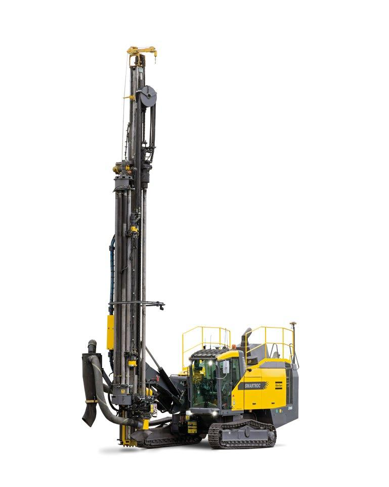 TECHNICAL SPECIFICATIONS TECHNICAL SPECIFICATIONS SmartROC D65 The fully-automated drill cycle allows you to reach desired hole depth while drill tubes are added and extracted automatically.