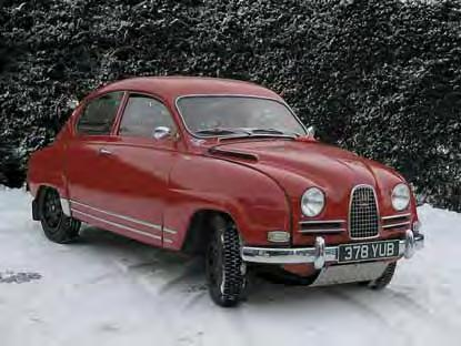 He had just inherited a 1963 Polar White Saab 96 which had been sleeping peacefully in a lock-up for the past 40 years.