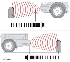 Parking assistance (option) Parking assistance front and rear General Parking assistance is used as an aid to parking. A signal indicates the distance to a detected object.