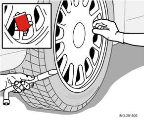 Wheels and tyres Removing wheels Set up the warning triangle if a wheel must be replaced at a busy location. Make sure that the car and jack are on a firm horizontal surface.