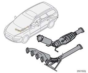 Technical data Catalytic converter Catalytic converter The purpose of the catalytic converter is to purify exhaust gases.