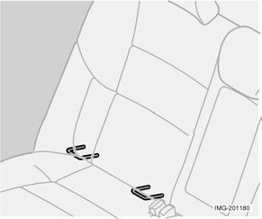 Safety WARNING! Never place a child in a child seat or on a booster cushion in the front seat if the airbag (SRS) is activated.