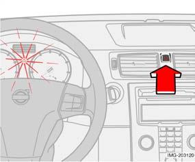 If the lever is stiff, press the steering wheel lightly at the same time as you push the lever back.