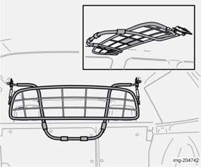 Interior Cargo area Safety grille (option) The safety grille is designed to help prevent loads or pets from being thrown forward in the passenger compartment in the event of sudden braking.