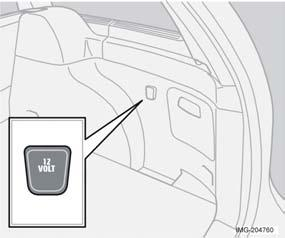Interior Electrical socket in the cargo area Fold down the cover to access the electrical socket. This socket works regardless of whether the ignition is on.