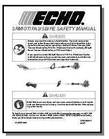 Immediately notify your retailer or ECHO Dealer of damaged or missing parts.