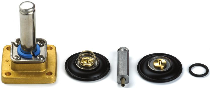 Spare parts kit for NC EPDM seal material For valve type Seal material Code number EV250B 10-12BD EPDM 032U5315 EV250B 18-22BD EPDM 032U5317 The spare parts kit comprises: O-ring for coil 4 screws
