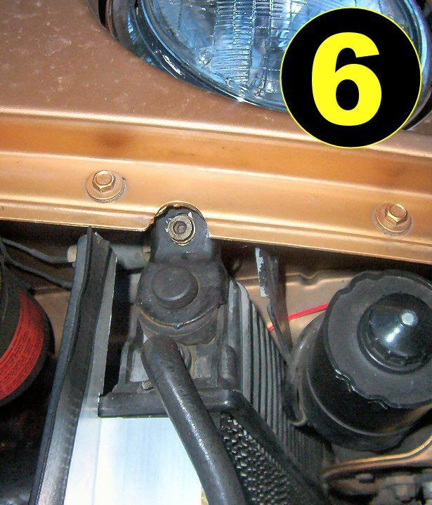 It is recommended that you remove the hoses from the engine, rather than at the radiator itself so as to not damage the radiator hose nipples. (See Photo 5).