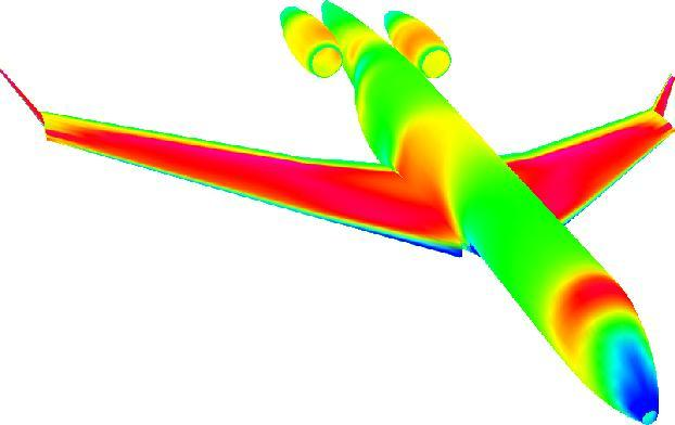 High-Speed Aerodynamics MDO environment is linked to CFD code KTRAN Solved modified Transonic Small Disturbance, TSD,