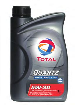Total Lubricants Core Grades TOTAL QUARTZ INEO MC3 5W-30 OPTIMAL PERFORMANCE and ENGINE PROTECTION Synthetic Low SAPS technology specifically formulated for engines equipped with post-treatment