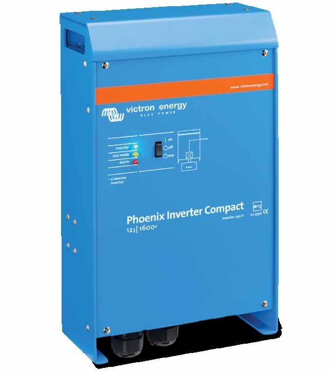 Inverters Victron Energy SinusMax - Superior engineering Extra start-up power Virtually unlimited power thanks to parallel 3-phase and split phase operation capability To transfer the load to another