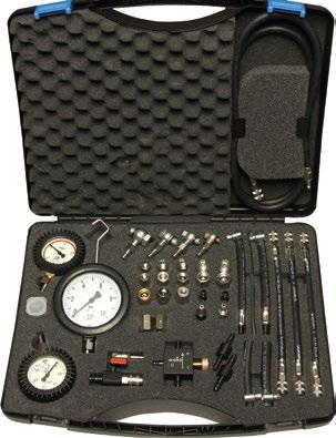 Engine Diagnostics FUEL PRESSURE - PETROL Diagnostic device for petrol injection engines Art. 922 000 00 Diagnostic kit for engines with petrol injection (with connections at quick couplers).
