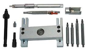 918 480 00 Puller have thrust plate with columns, axial bearing, the paw (handle injector) and a feed screw with a nut.