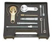 903 200 00 Kit includes camshaft locking tool with handle, pin to block the fl ywheel and tensioners locking pins Also for cars BMW and OPEL 1,10 kg Additional equipment OEM: LRT-12-108, LRT-12-112,