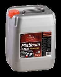 ENGINE OILS FOR TRUCKS, BUSES AND HEAVY EQUIPMENT PLATINUM ULTOR MAX 5W-40 14.3-40 164 10.3 235 60l SAE: 5W-40 ACEA: E7, E9 MB-Approval 228.