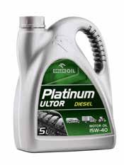 ENGINE OILS FOR TRUCKS, BUSES AND HEAVY EQUIPMENT 1l 5l 60l 1000 kg PLATINUM ULTOR CG-4 15W-40 SAE: 15W-40 ACEA: E3/ B3/ B2 /A3 MBApproval 228.