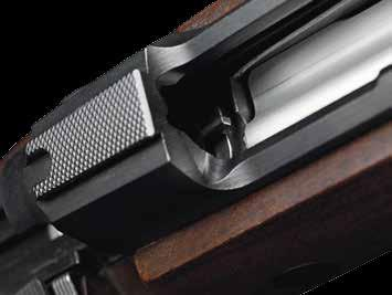 Sako 85 barrels, blued or stainless, have a non-reflecting, satin-like surface with the exception of