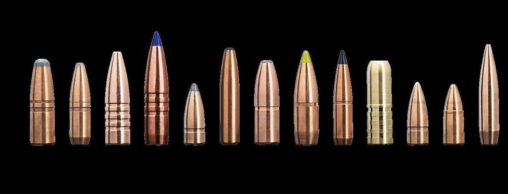 1) 2) 3) 4) 5) 6) 7) 8) 9) 10) 11) 12) 13) 1) SAKO HAMMERHEAD Heavy, jacketed bonded core, soft point for larger calibers.