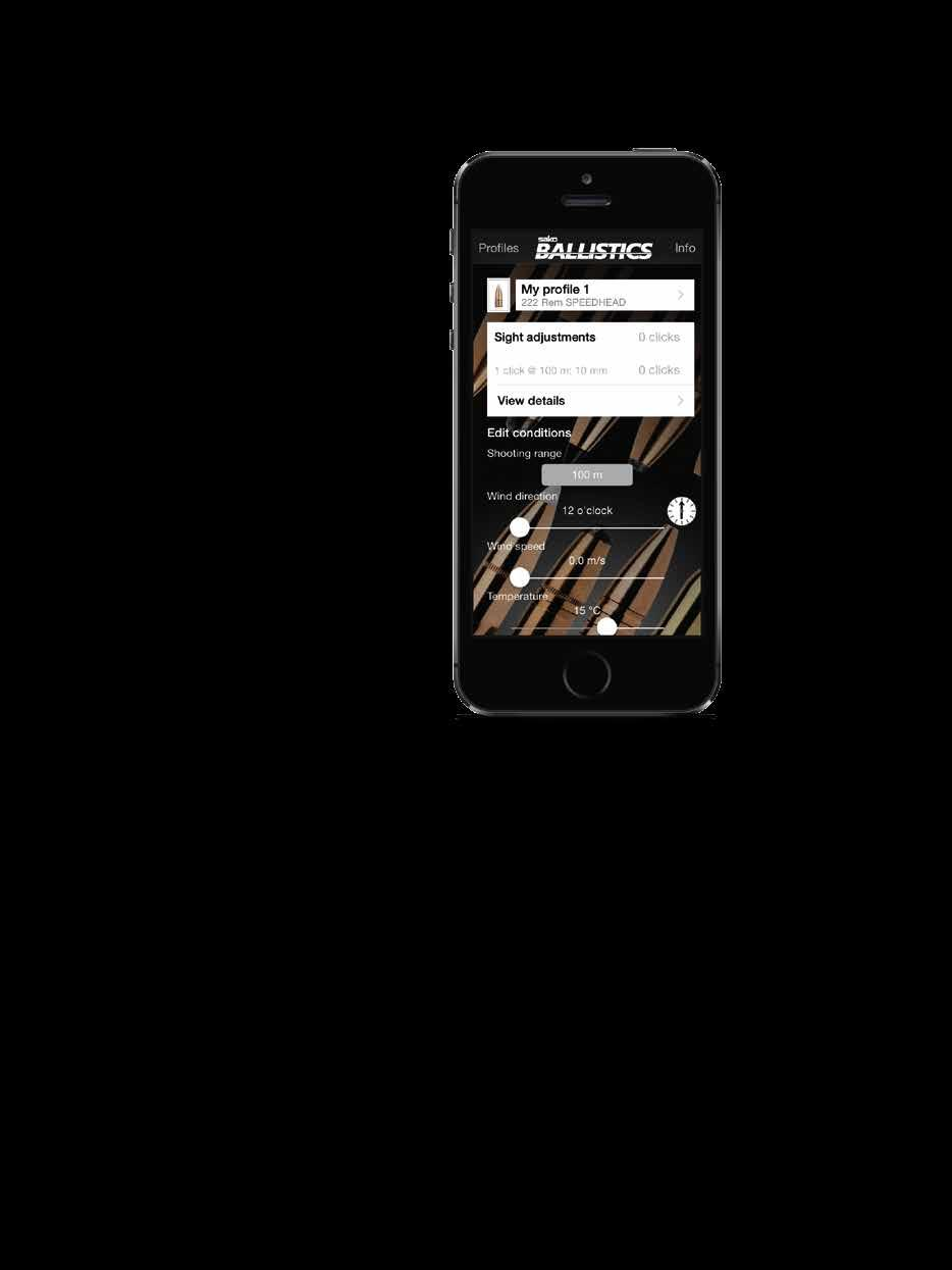 SAKO BALLISTICS The Sako Mobile Ballistics App is an easy-to-use ballistic calculator allowing hunters and long-range shooters to identify the right cartridge for the given purpose.