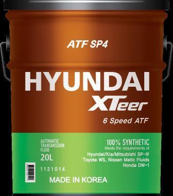 Premium Lubricant made by HYUNDAI ATF SP4 Premium 6-Speed Auto Transmission Fluid 1L 4L 20L XTeer ATF SP4 is the most advanced synthetic automatic transmission fluid designed for premium cars with