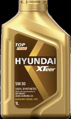 Premium Lubricant made by HYUNDAI TOP PRIME 5W40, 5W30 100% Synthetic Engine Oil for Gasoline Car/Diesel Sedan excellent in reduction of frictional force XTeer TOP PRIME is a premium performance