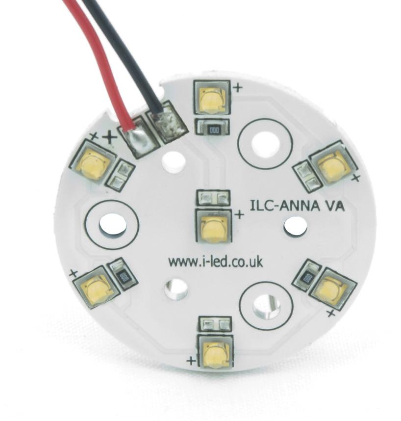 7 OSLON +80 PowerAnna PCB Colours ILC-ONA7-XXXX-SC211- Series Product Overview The all new PowerAnna Coin from ILS has been designed to work with any Ledil Anna lens whether this be the 40 or 50mm