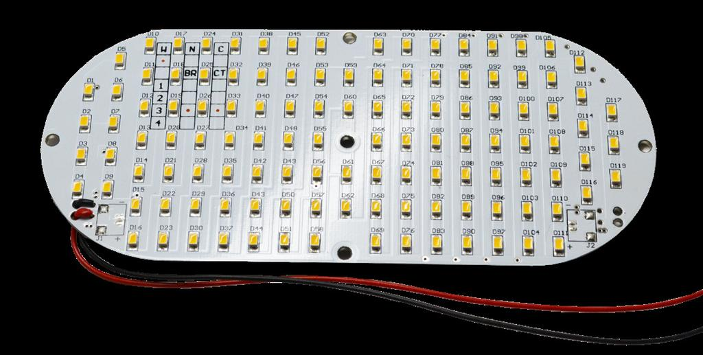 CAPSULE LED PCB BTS-CP119-XX-2 Correlated Color Temperature (K) Luminous Output (lm)