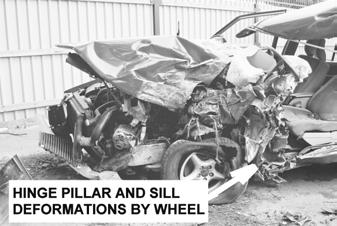 Subject car of model year 1996 which was equipped with a steering wheel airbag collided with a van. The fatally injured male driver was the only occupant of the subject vehicle.