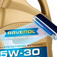 The Packaging The Packaging The Label Additional counterfeit product security: Under UV light the words RAVENOL-GERMANYORIGINAL will
