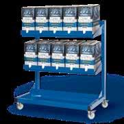 blue Holding devices for ten bag-in-box Measurements: 1150 x 1140 x 650 mm Weight: 57 kg