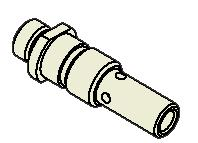 030 ) #1255 Mini nozzle, insul. ceramic 32-50mm (1.25-2.