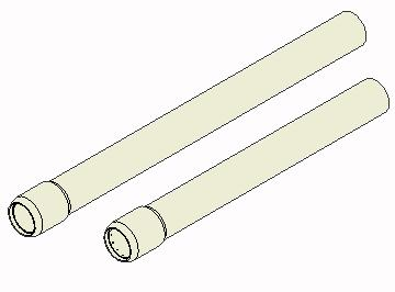 21 Radial support extension 102mm (4 ) #A118 Radial support extension 204mm