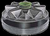 Four new SKF hubcaps are compatible with the Meritor Tire In