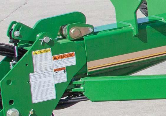 the tractor in field position, allowing tighter turns on end rows.