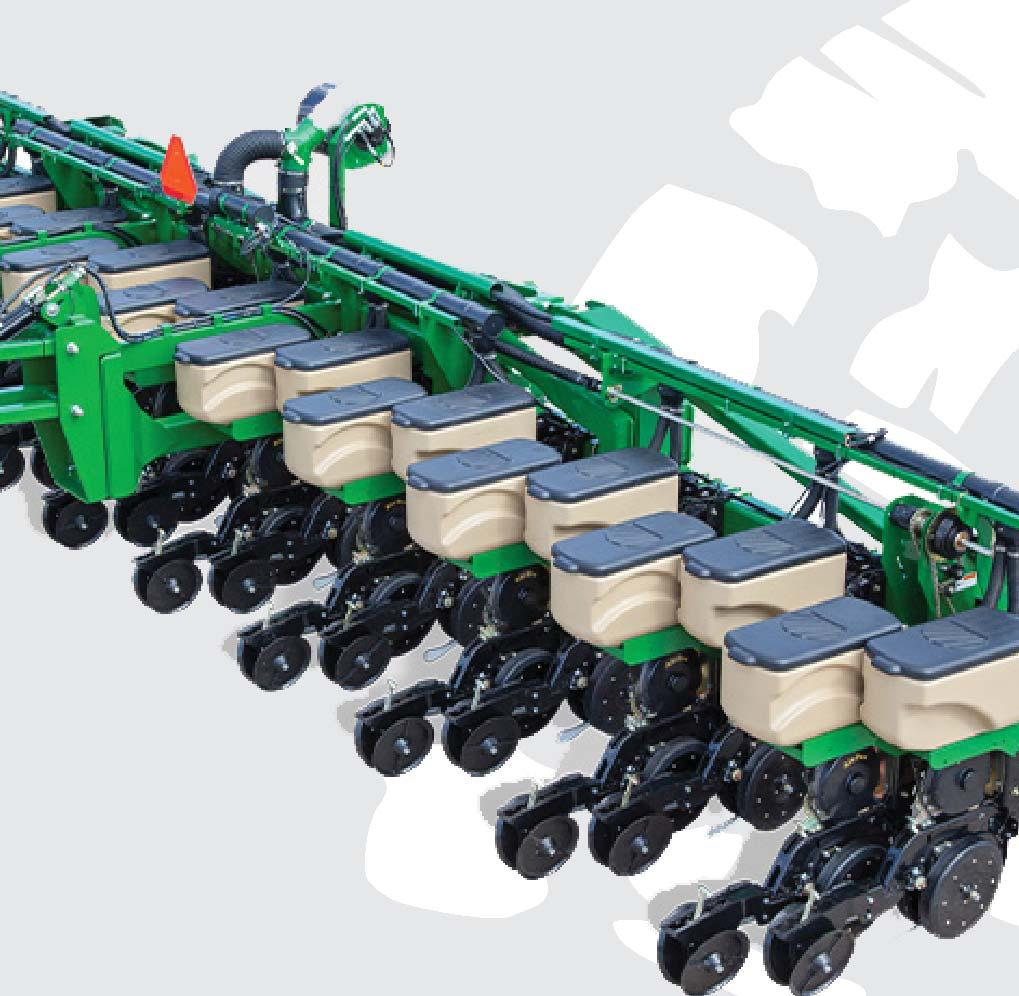 to maintain than the competition. It is a parallel linkage design, so the row unit is always in the optimal planting position.