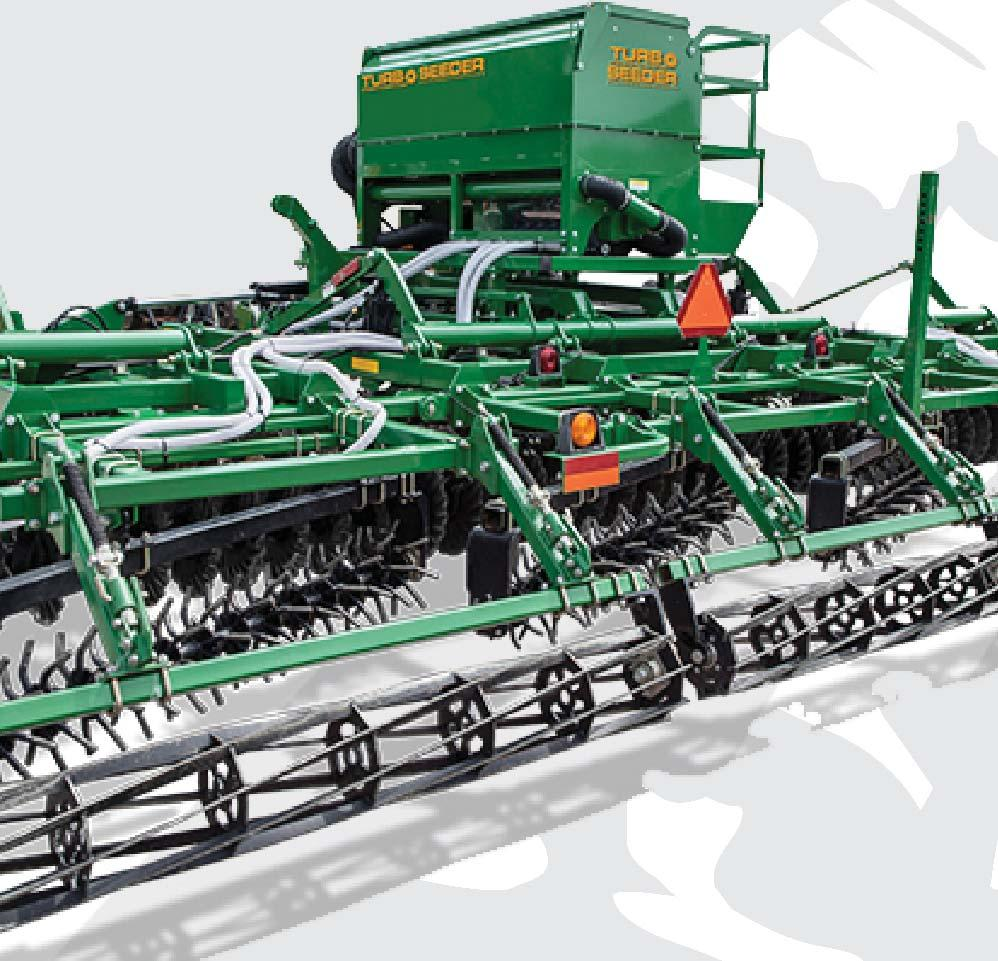 HOSE KIT The Turbo-Seeder has 12 or 16 diffusers and 32 mm diameter hose for unrestricted air and seed flow.