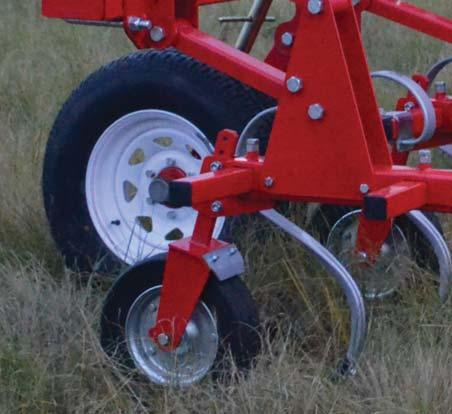 Inter-Row Cultivator Sturdy beam.