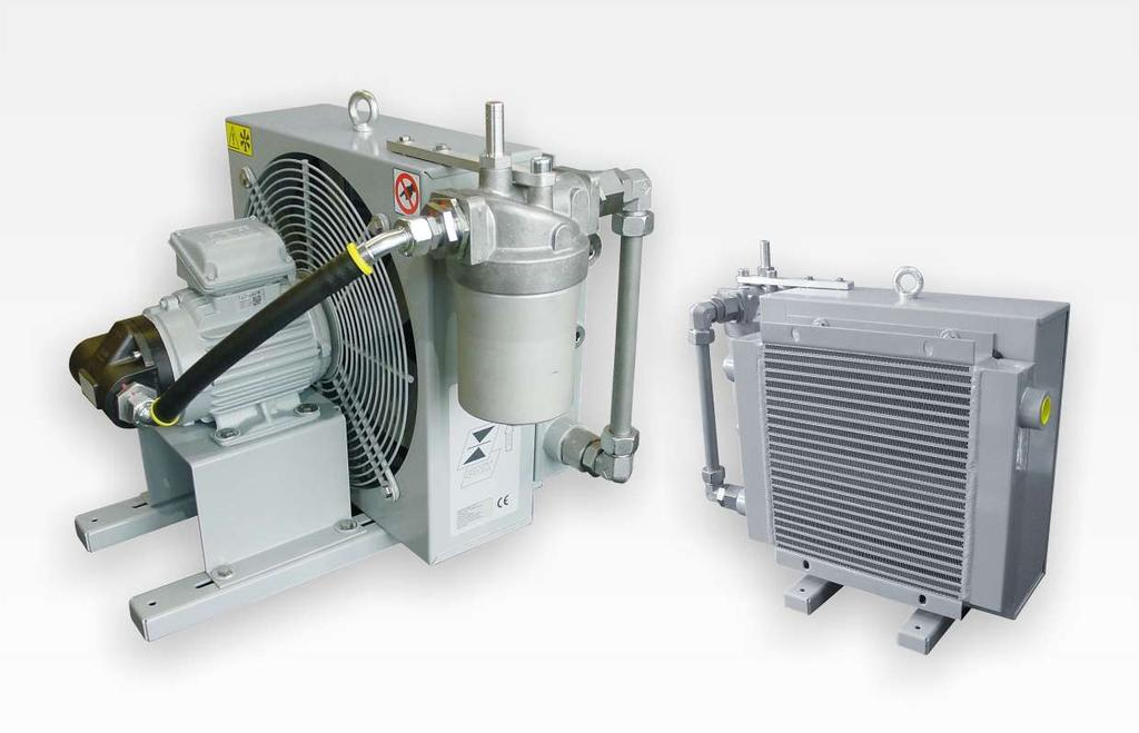 Fluidcontrol Off-line filter / cooler unit FGSL Coolers are used to stabilise the operating temperature in hydraulic and lubrication systems.