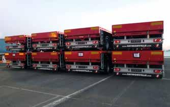 To further strengthen its market position, the vehicle fleet was expanded with four MegaMAX low-bed trailers and six TeleMAX flatbed vehicles.